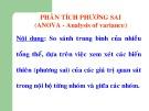 Bài giảng Lý thuyết thống kê: Phân tích phương sai (ANOVA -  Analysis of variance)