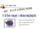 Đề tài: Tìm hiểu công nghệ của nhà máy xi măng Quang Sơn