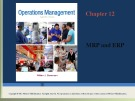 Lecture Operations management: Chapter 12 - William J. Stevenson