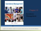Lecture Operations management: Chapter 13 - William J. Stevenson