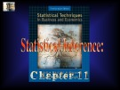 Lecture Statistical techniques in business and economics - Chapter 11: Statistical inference
