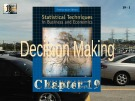 Lecture Statistical techniques in business and economics - Chapter 19: Decision making