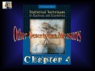 Lecture Statistical techniques in business and economics - Chapter 4: Other descriptive measures