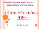Bài giảng Lý thuyết thông tin: Chương 0 - Bùi Văn Thành