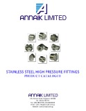 Stainless steel high pressure fittings product catalogue