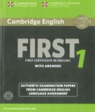 Cambridge English - First 1 certificate in English with answers : Part 1