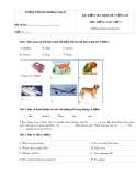 Bài kiểm tra định kỳ cuối năm môn: Tiếng Anh lớp 3 - Trường Tiểu học Phương Trung II