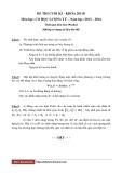 Đề thi cuối kì - Khóa 2011B - Môn học: Cơ học lượng tử - Năm học: 2013-2014