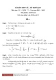 Đề kiểm tra giữa kì - Khóa 2010 - Môn học: Cơ lượng tử - Năm học: 2011-2012