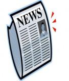 Tiểu luận môn Cơ sở lý luận Báo chí truyền thông: Vai trò của báo chí trong đời sống xã hội hiện nay