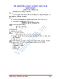 Đề kiểm tra chất lượng học kì II môn Toán lớp 7