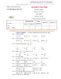 Bộ đề kiểm tra học kì I môn Toán 7 năm học 2011-2012