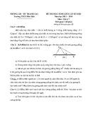 Đề thi học sinh giỏi cấp huyện năm 2013-2014 môn Vật lý lớp 7 – Trường THCS Dân Hoà