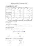 Đề kiểm tra môn Toán học kỳ I lớp 7 (Đề số 2)