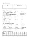 Đề kiểm tra 15 phút môn Toán 7 (Bài số 1)