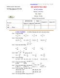 Đề kiểm tra học kỳ 1  môn Toán 7 - Trường THCS TT Phú Hòa