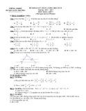 Bộ đề khảo sát chất lượng học kỳ II môn Toán lớp 7 năm học 2012-2013