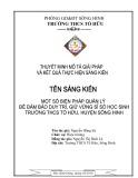 Sáng kiến kinh nghiệm: Một số biện pháp quản lý để đảm bảo duy trì, giữ vững sĩ số học sinh Trường THCS Tố Hữu, huyện Sông Hinh