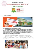 Dự án đầu tư xây dựng Trường Mầm non quốc tế Việt Mỹ Úc