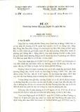 Đề án: Thành lập trường Mầm non Thành Tô, quận Hải An