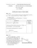 Kỳ thi chọn học sinh giỏi toán trên máy tính cầm tay năm 2012 môn Vật lý - Sở GD&ĐT Lâm Đồng