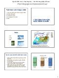 Bài giảng Khí tượng nông học - Bài 5: Tuần hoàn nước trong tự nhiên