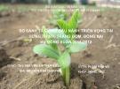 Báo cáo tốt nghiệp: So sánh 12 giống đậu nành triển vọng tại Hưng Thịnh, Trảng Bom, Đồng Nai vụ đông xuân 2011-2012
