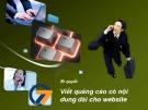 Bài giảng SEO – Search Engine Optimization: Bí quyết viết quảng cáo có nội dung dài cho website