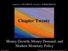 Lecture Money, banking, and financial markets (3/e): Chapter 20 - Stephen G. Cecchetti, Kermit L. Schoenholtz