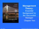 Lecture Management: A practical introduction (6/e): Chapter 2 - Kinicki, Williams