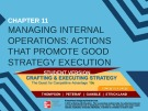 Lecture Crafting and executing strategy (19/e): Chapter 11 - Thompson, Peteraf, Gamble, Strickland