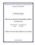 Abstract of doctoral thesis on law studies: The legal issues on Economic Group in Vietnam