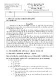 Đề kiểm tra định kì học kì II năm học 2014-2015 môn Tiếng Việt lớp bốn - Trường TH Thái Sanh Hạnh