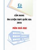 Cẩm nang ôn luyện THPT Quốc gia 2016 môn Hóa học