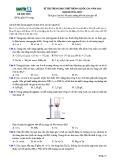Đề thi thử THPT Quốc gia năm 2016 môn Hóa học