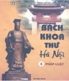 Ebook Bách khoa thư Hà Nội (Tập 4: Pháp luật): Phần 1