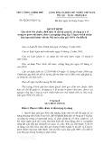 Quyết định số: 32/2015/QĐ-TTg
