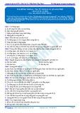 Bài tập tự luyện: Tia hồng ngoại, tia tử ngoại và quang phổ