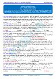 Đáp án bài tập tự luyện: Ôn tập Sóng cơ học