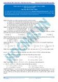 Bài tập tự luyện: Tổng quan lý thuyết mạch điện xoay chiều