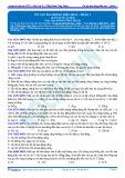 Bài tập tự luyện: Ôn tập Dao động điều hòa - Phần 1