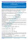 Bài tập tự luyện: Bài tập mạch LC, sóng điện từ và thu phát sóng điện từ