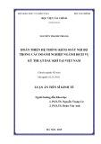 Luận án Tiến sĩ Kinh tế: Hoàn thiện hệ thống kiểm soát nội bộ trong các doanh nghiệp ngành dịch vụ kỹ thuật dầu khí tại Việt Nam