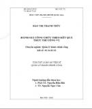 Tóm tắt Luận án Tiến sĩ Quản lý Hành chính công: Đánh giá công chức theo kết quả thực thi công vụ
