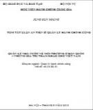 Tóm tắt Luận án Tiến sĩ Quản lý hành chính công: Quản lý nhà nước về môi trường ở Hàn Quốc - Những giá trị tham khảo cho Việt Nam