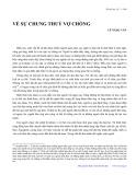 Về sự chung thủy vợ chồng