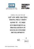 Thông tin chuyên đề giữ gìn môi trường trong phát triển kinh tế - xã hội