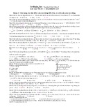 Bài tập trắc nghiệm Dao động cơ lớp 12