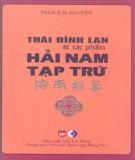 Ebook Thái Đình Lan và tác phẩm Hải Nam Tạp Trứ: Phần 1