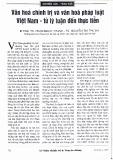 Văn hóa chính trị và văn hóa pháp luật Việt Nam - Từ lý luận đến thực tiễn